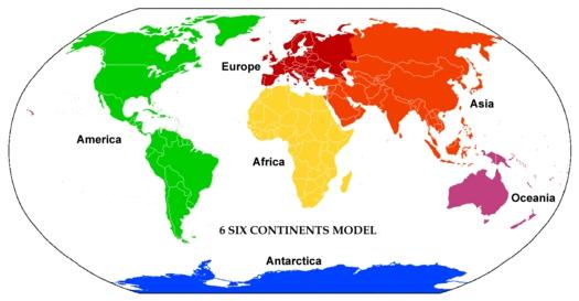 7大陸表記について