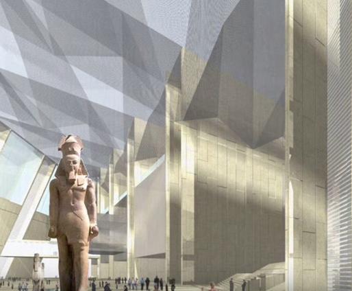 大エジプト博物館はこんな感じ? クールな外観に期待!