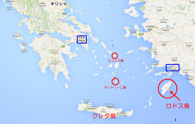 クレタ島の地図