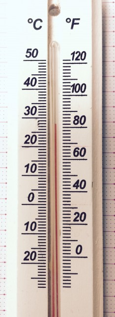 摂氏華氏温度計