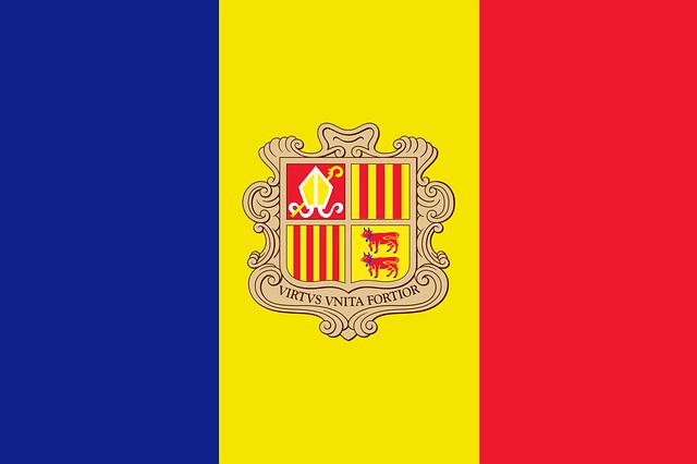 アンドラ公国の国旗